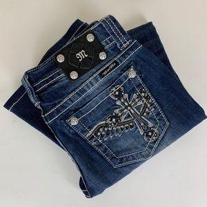 Miss Me Boot Cut Jeans Women's JP6127B Sz 29 EUC